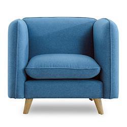 【時尚屋】愛葛莎沙發單人座藍色MT7-315-10免組裝/免運費/沙發