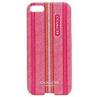 COACH 民俗風直紋 iPhone 5 手機保護殼(桃紅)
