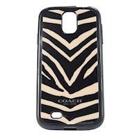 COACH 斑馬紋 Samsung S4 手機保護殼(黑白)