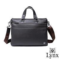 Lynx - 山貓真皮經典款極品型男公事包-共2色