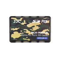 JJC十張Micro SD記憶卡儲存盒MCH-MSD10YG迷彩色(名片型)