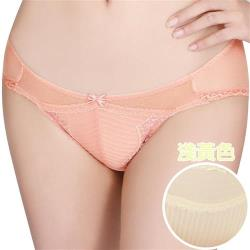 任-【思薇爾】撩波系列M-XL蕾絲低腰三角內褲(淺黃色)