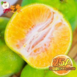 果之家 嚴選台灣鮮採香甜爆汁25A綠皮椪柑10台斤(單顆約200g±50)
