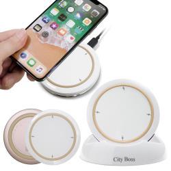 CB 無線充電器5V/2A/10W  搭配支架 for iPhone X / 8 Plus / Note8-玫瑰金/金/黑