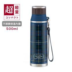 日本Skater輕便型不鏽鋼保溫水壺(500ml)藍
