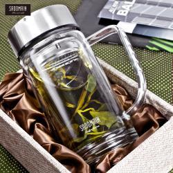 仙德曼  SADOMAIN   雙層辦公玻璃杯360ml