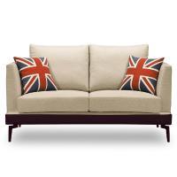 【時尚屋】[MT7]柏頓雙人座米色布套沙發MT7-314-3免組裝/免運費/沙發