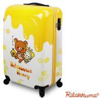 【Rilakkuma拉拉熊】奇幻花園 20吋PC超輕量硬殼行李箱(蜂蜜)