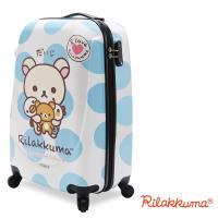 【Rilakkuma拉拉熊】夢幻樂園 20吋PC超輕量硬殼行李箱(藍)