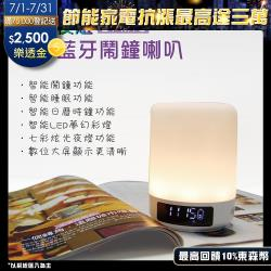 【Dennys】七彩夜燈藍牙鬧鐘喇叭(BT-M18)