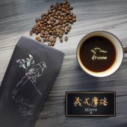 Krone皇雀 義式摩格咖啡豆454g 限量送聖誕派對杯防燙隔熱紙杯(5入)