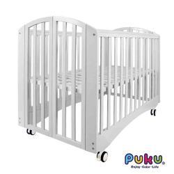 PUKU藍色企鵝 IZZY FOLD 摩易床/嬰兒床/遊戲床(白)