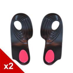 糊塗鞋匠 優質鞋材 E18 矽膠後跟足弓墊 (2雙/組)