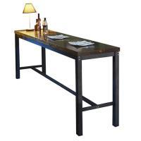 【AT HOME】工業風設計約翰8尺長型實木鐵藝洽談桌休閒桌吧台桌餐桌(240*60*102cm)