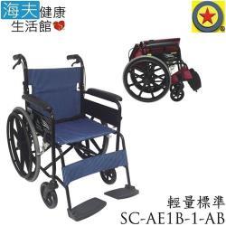 海夫 輪昇 可折背 輕量 通用型 輪椅SC-AE1B-1-AB