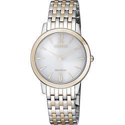 【CITIZEN 星辰】新時代學院通勤女腕錶-金X銀(EX1496-82A)