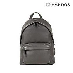 HANDOS - David 精緻輕便皮革後背包 - 鐵灰