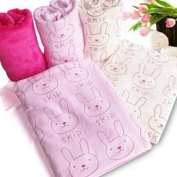 加厚超棉柔小兔印花大浴巾/毛毯