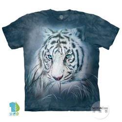 摩達客 (預購)(大尺碼3XL)美國進口The Mountain 深思白虎 純棉環保藝術中性短袖T恤