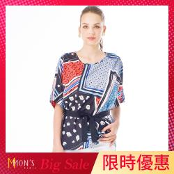 MONS國際名品撞色時尚造型上衣