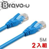 Bravo-u Cat6超高速傳輸網路線(5米) 2入組