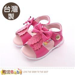 魔法Baby 女童鞋 台灣製手工女童涼鞋~sk0403