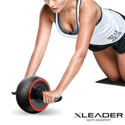 Leader X 自動回彈迴力健腹輪 健腹器 滾輪 紅色