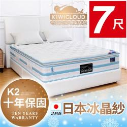 KiwiCloud專業床墊-K2 塔斯曼 獨立筒彈簧床墊-6×7尺特大雙人