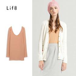 Life8-MIT 雙V磨毛舒適柔棉貼身長袖上衣-女-51094