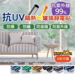 防紫外線抗UV隔熱玻璃貼_4入
