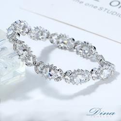 DINA JEWELRY蒂娜珠寶   團花錦繡 CZ鑽造型手鍊 (KS81217)