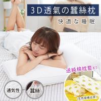 BELLE VIE 獨家3D立體透氣蠶絲枕 (74x48cm)