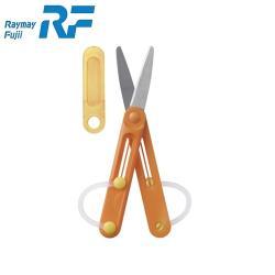 日本藤井Raymay筆型折疊收納小型左手剪刀SHH505D兒童剪刀(迷你隨身適旅行;韓國製造)左撇子剪刀-日本平行輸入