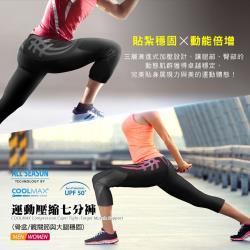 【BodyVine 巴迪蔓】超肌感壓縮七分褲-女款(骨盆/髖關節與大腿穩固)