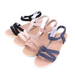【88%】涼鞋-跟高3CM 楔形涼拖鞋 純色百搭 交叉鞋面 夏日簡約百搭款