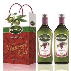 奧利塔  葡萄籽油禮盒3盒;共6瓶(葡萄籽油X2/盒;1000ML/瓶)