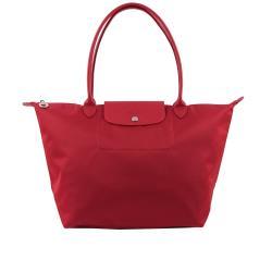 LONGCHAMP M號長把厚款尼龍肩背包Le Pliage Neo(紅莓色)1899578379