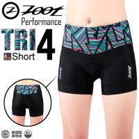 ZOOT 專業級 4吋肌能鐵人褲(線彩黑/女款)