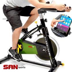 SAN SPORTS 戰車18KG飛輪健身車(4倍強度)