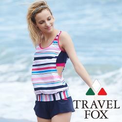 旅狐TRAVEL FOX 大女長版三件式泳衣 c18719