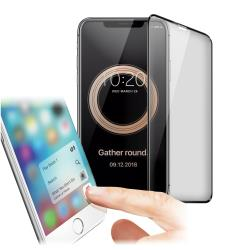 Xmart for iPhone Xs Max 6.5吋 防指紋霧面滿版玻璃保護貼-黑色