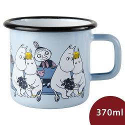 Muurla 嚕嚕米馬克杯 靠在一起 粉藍 370ml