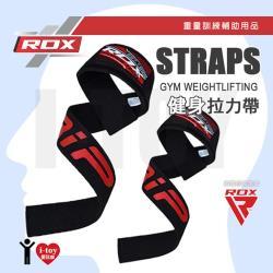 -黑色-英國 RDX 健身拉力帶 GYM WEIGHTLIFTING STRAPS 重量訓練 助握帶 助力帶 倍力帶 輔助用品