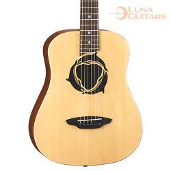 美國 LUNA 海豚 雲杉/桃花心木 36吋旅行吉他 SAF DPN