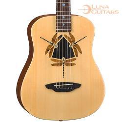 美國 LUNA 蜻蜓 雲杉/桃花心木 36吋旅行吉他 SAF DF NAT