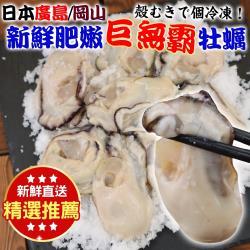 海肉管家-日本廣島巨無霸2L牡蠣(2包/每包約350g±10%)