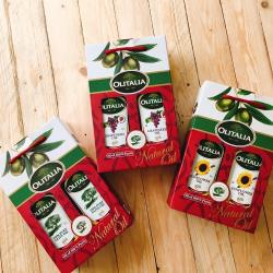 Olitalia奧利塔-橄欖禮盒X1+葵花禮盒X1+葡萄油禮盒X1(橄欖油X2瓶+葵花油X2瓶+葡萄油X2瓶;1000ML/瓶)