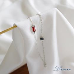 DINA JEWELRY 蒂娜珠寶  個性風CZ彩鑽 925純銀手鍊 (HFH71315)