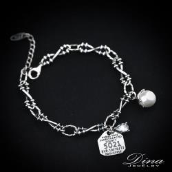 DINA JEWELRY 蒂娜珠寶  衝突感 925純銀手環  (YRT64115)