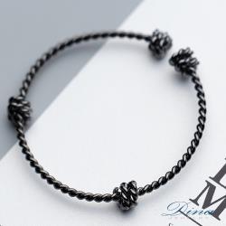 DINA JEWELRY 蒂娜珠寶  繩結做舊 925純銀手環 ( ILC72957)